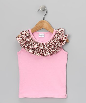 Pink Leopard Ruffle Tank - Infant, Toddler & Girls