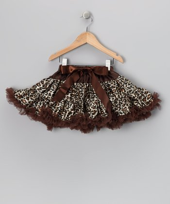 Cheetah & Chocolate Bow Pettiskirt - Infant, Toddler & Girls