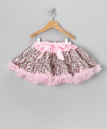 Pink Cheetah Bow Pettiskirt - Toddler & Girls