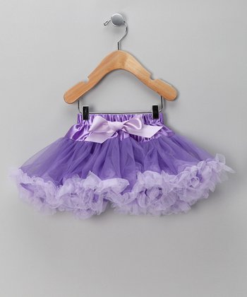 Purple & Lavender Bow Pettiskirt - Infant, Toddler & Girls