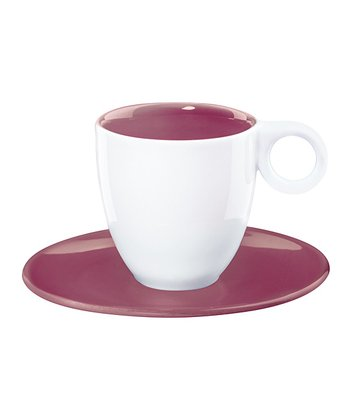 Purple Espresso Cup & Saucer - Set of Six