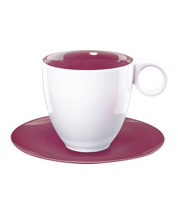 Purple Coffee Cup & Saucer - Set of Six