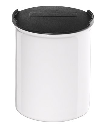 White Medium Canister & Lid