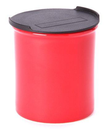 Red Medium Canister & Lid