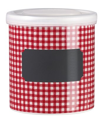 Red Square Jar & Lid