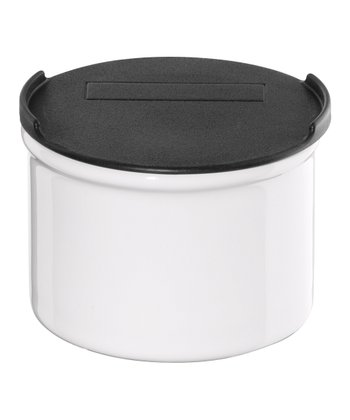 White Small Canister & Lid