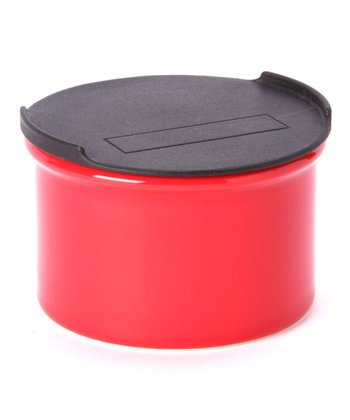 Red Small Canister & Lid
