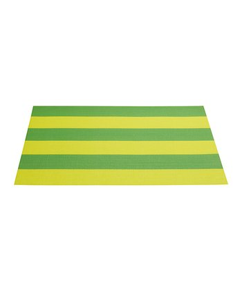 Green Stripe Place Mat - Set of Four