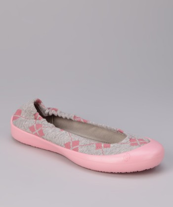Cotton Candy Argyle Flat