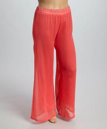 Coral Gaucho Pants - Plus