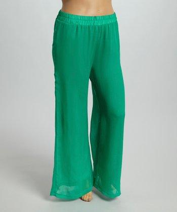 Mint Gaucho Pants - Plus