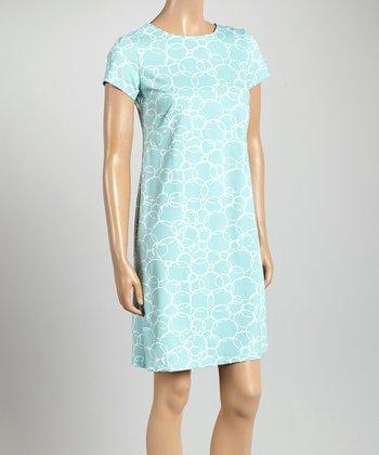 Teal Key West Crewneck Dress