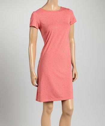 Pink & Orange Key West Crewneck Dress