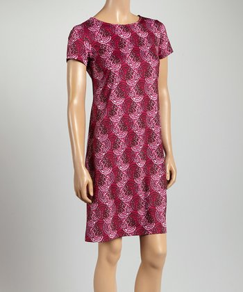 Fuchsia & Pink Circle Key West Crewneck Dress
