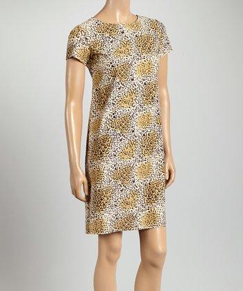 Summer Leopard Key West Crewneck Dress