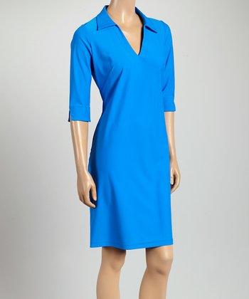 Royal Blue Nola V-Neck Dress