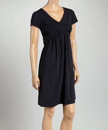 Black Savannah Empire-Waist Dress