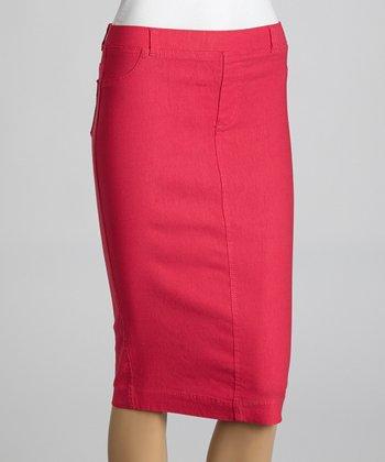 Coral Jean-Top Pencil Skirt