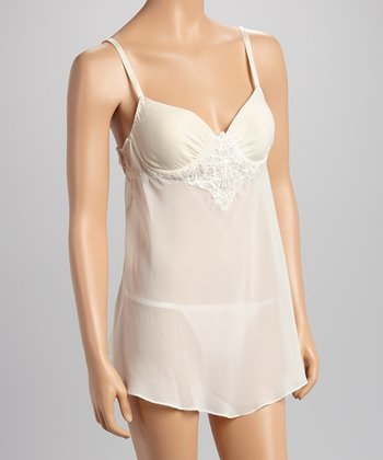 Dolce Vita Intimates Winter White Embroidered Babydoll - Women