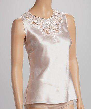 Dolce Vita Intimates Pale Pink Embroidered Satin Tank - Women