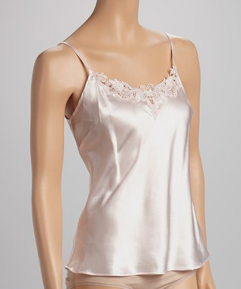 Dolce Vita Intimates Pale Pink Embroidered Satin Camisole - Women