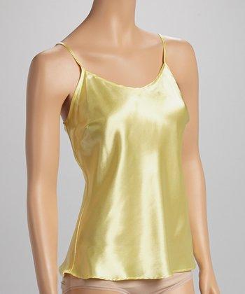 Dolce Vita Intimates Yellow Satin Camisole - Women