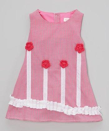Hot Pink Ribbon Rosette Dress - Infant, Toddler & Girls