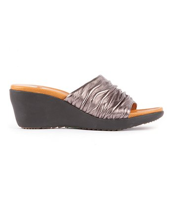 Pewter Metallic Muse Wedge