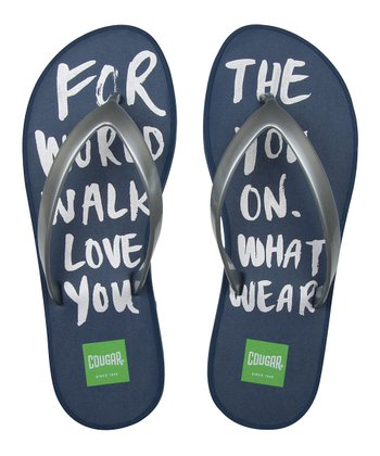 Navy 'For the World' Flip-Flop