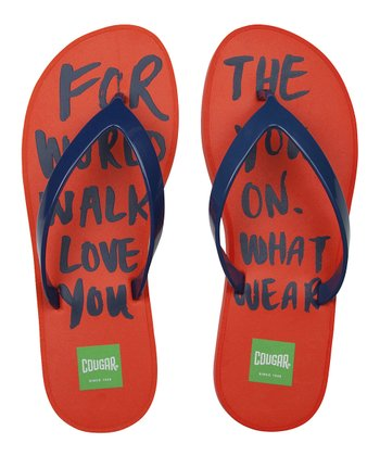 Orange 'For the World' Flip-Flop