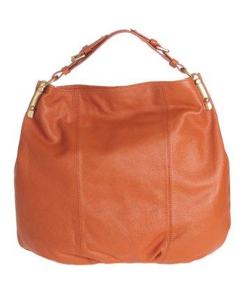 Sloane & Alex Orange Raleigh Leather Hobo