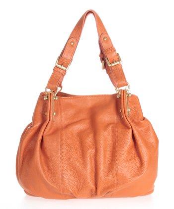 Sloane & Alex Orange Raleigh Leather Tote