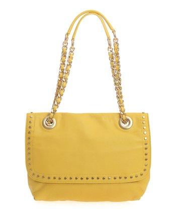 Sloane & Alex Yellow Essex Leather Shoulder Bag