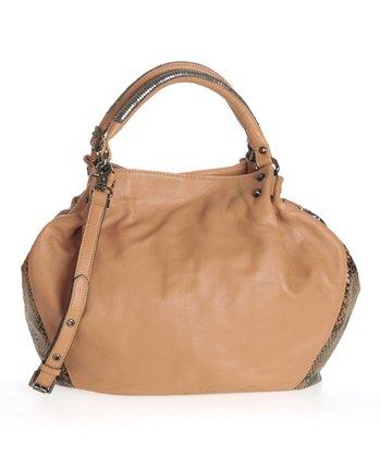 Sloane & Alex Honey Isadora Leather Tote