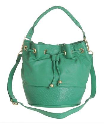 Sloane & Alex Jade Sophia Leather Bucket Bag