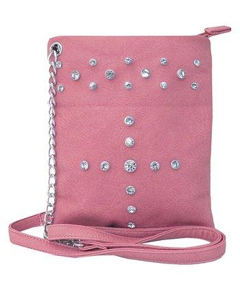 Pink Rhinestone Crossbody Bag