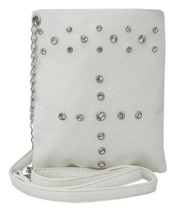 White Rhinestone Crossbody Bag