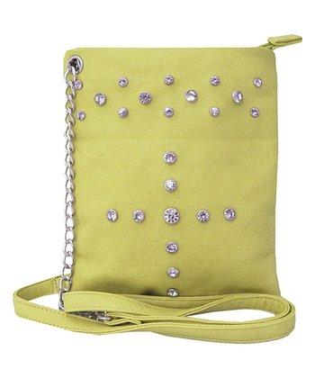 Yellow Rhinestone Crossbody Bag