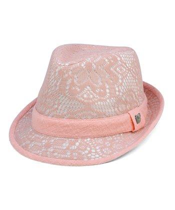 Pink Doily Fedora