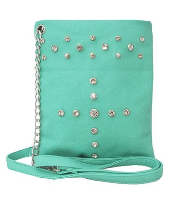 Mint Rhinestone Crossbody Bag