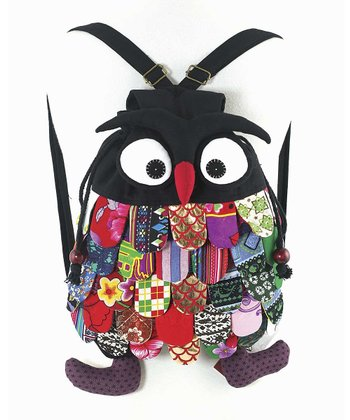 Black Patch Owl Backpack