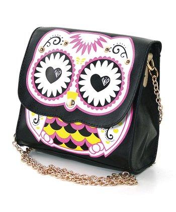 Black Owl Shoulder Bag
