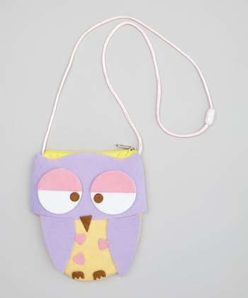 Purple & Pink Give a Hoot Coin Purse