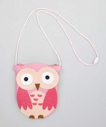 Pink Give a Hoot Coin Purse