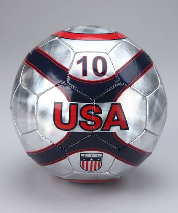 Silver USA Soccer Ball