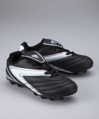 Black & White Verona Soccer Cleat - Kids