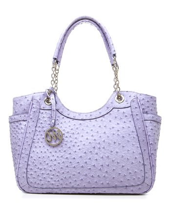 Iris Ostrich Nicole Double Handle Shoulder Bag