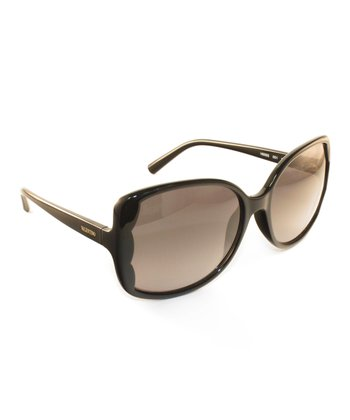 Black Scallop-Edge Sunglasses