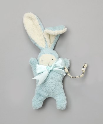 Plush Blue Bunny & Pacifier Clip