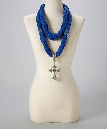 Blue Maltese Silk-Blend Infinity Scarf